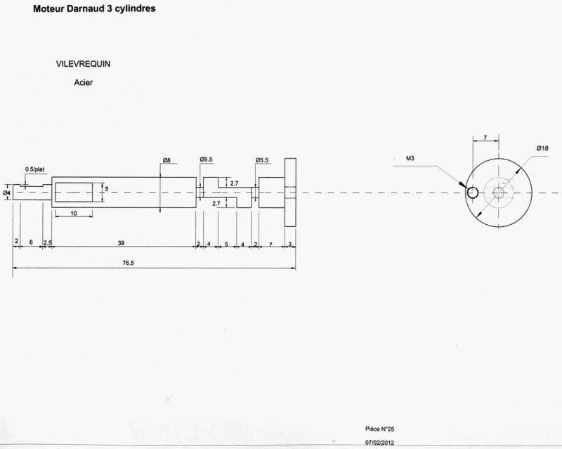 Moteur Darnaud 3 cylindres. 13290693821