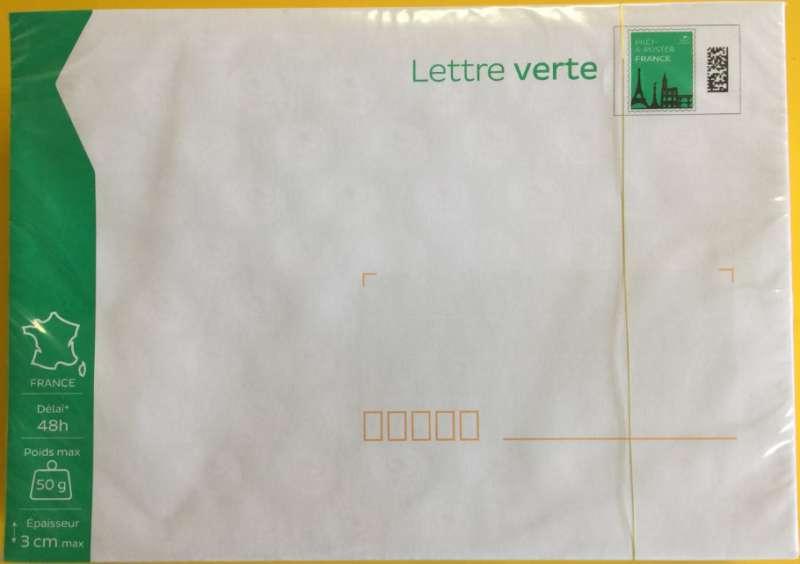 Prêt à Poster Lettre Verte 50g Lot De 100